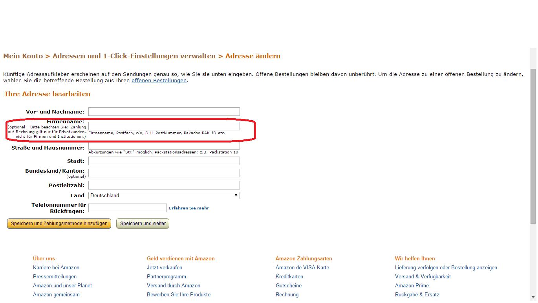 Amazon bestellung ausfpllen mindeestbestellwert