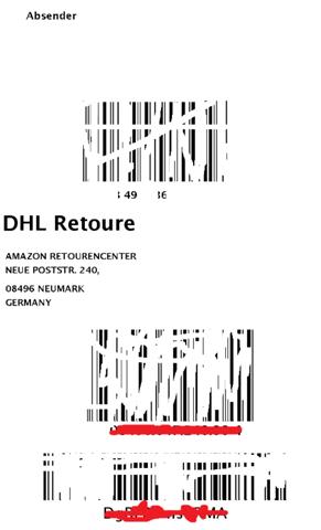 Amazon DHL Reoture Label Bedeutung der Nummern?