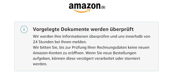 Amazon Konto Gesperrt