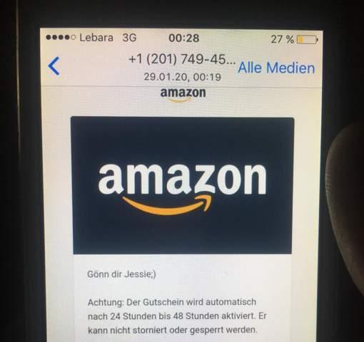 Fake Amazon Gutschein