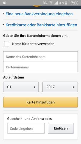 - (Amazon, Konto, gutscheinkarte)