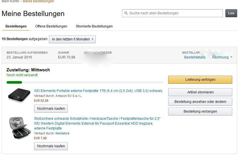 amazon rechnung anfordern bei mehreren bestellungen computer internet online. Black Bedroom Furniture Sets. Home Design Ideas