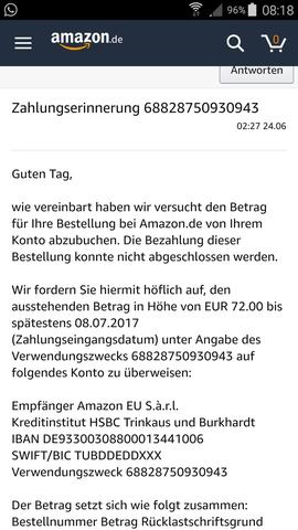 - (Geld, Amazon, Bank)