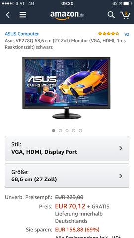 Der Bildschirm  - (Amazon, seriös, Amazon Falle)