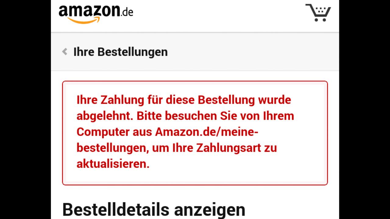 amazon kreditkarte zahlung abgelehnt