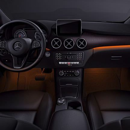ambientebeleuchtung cla auto led mercedes benz. Black Bedroom Furniture Sets. Home Design Ideas