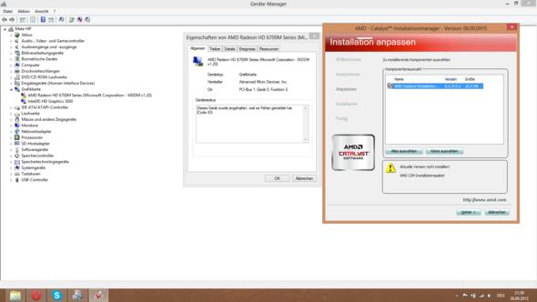 AMD Grafikkarten-Problem: Dieses Gerät wurde angehalten, weil es Fehler gemeldet hat. (Code 43)