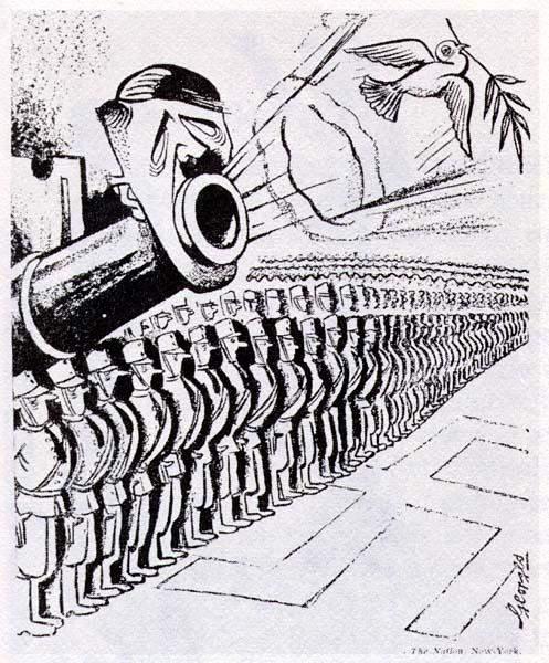 Den mit gesichtern karikatur der 2 mann Denninger