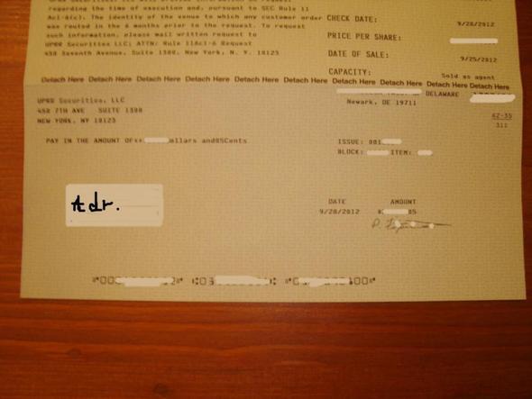 Bild 1 zu meinem Thema Scheck - (Finanzen, Bank, Scheck)