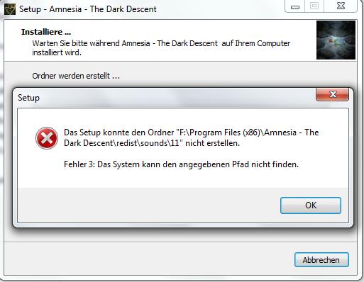 Fehler 3 - (Windows, PC-Spiele, Windows 7)