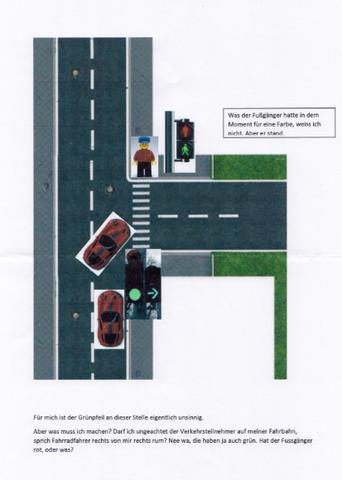 Grünpfeil leuchtend - (Auto, Verkehr, Ampel)