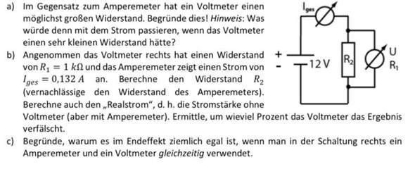 Ampere und Voltmeter?