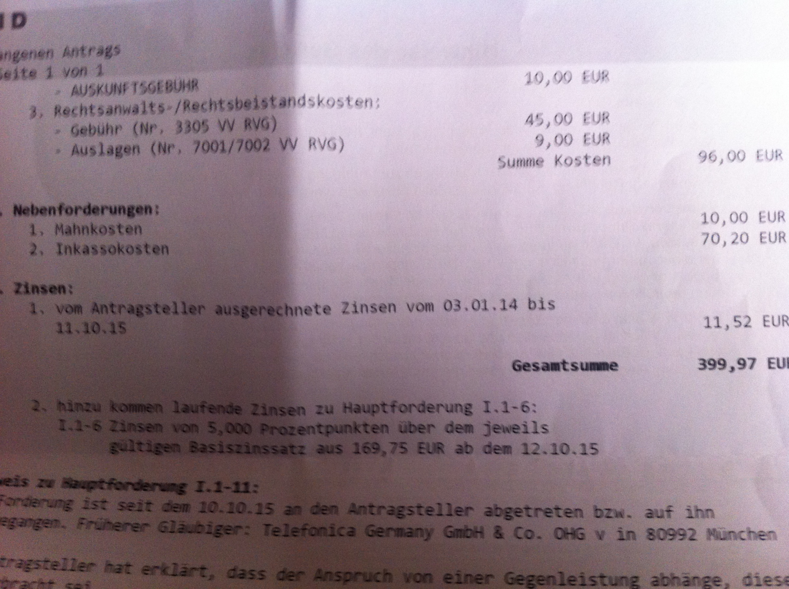 Amtsgericht Hamburg Real Inkasso Welche Gesamtsumme Muss Beglichen