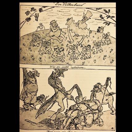Völkerbund Probleme - (Geschichte, Karikatur, Nachkriegszeit)