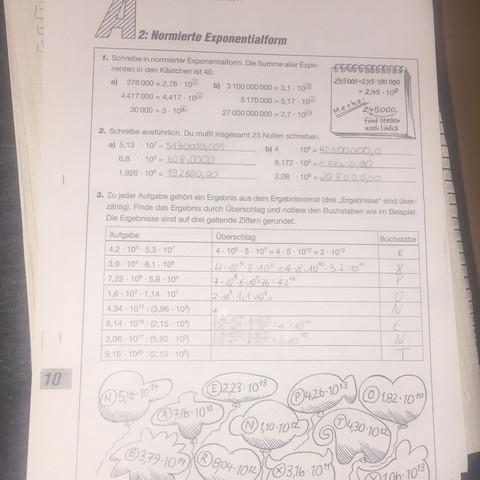 """An alle Mathe-Genies: Kann mir einer zum Thema """"Exponenten""""helfen ..."""