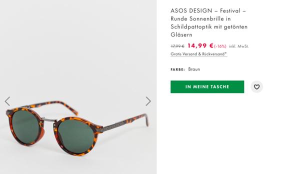 an die Brillenkenner: Sonnenbrille asos dupe?