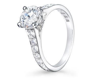 Einfacher Verlobungsring ausgefasst - (Ring, Verlobung, Cartier)
