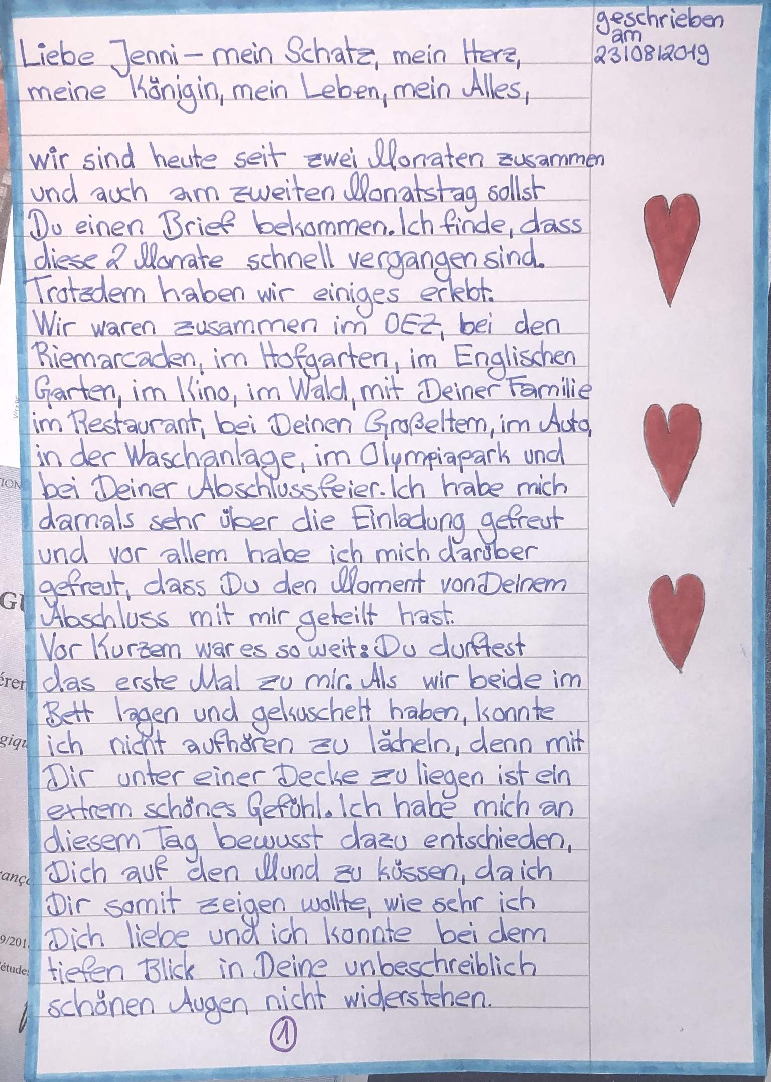 Liebesbriefe meinen schatz an lange Alles was