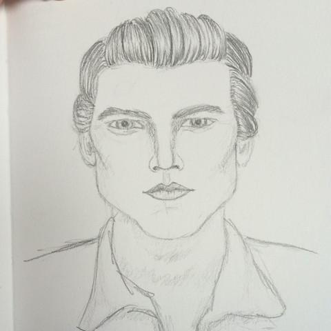 Hier das Bild von der Skizze. - (Männer, Name, Kunst)