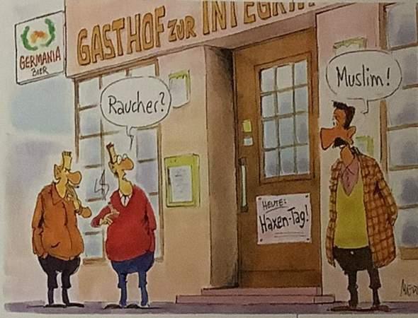 Analysiert die Karikatur?