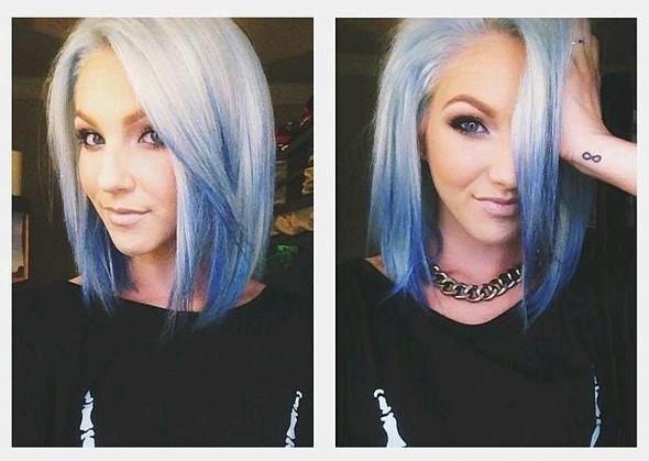 Weiß-Blau - (Arbeit, Haare, Ausbildung)