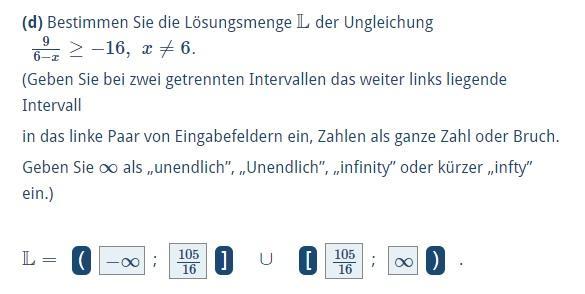 Aufgabe - (Mathematik, Intervall, Ungleichungen)