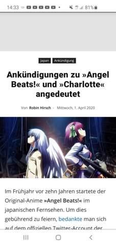 Angel beats Staffel 2 oder ein Scherz?