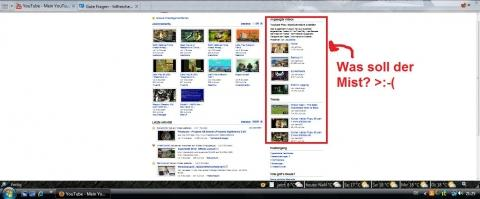 YouTube verkleinert damit ihr alles erkennt. - (Internet, Programm, Internetseite)