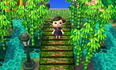 Animal Crossing bemooste Brücke - (finden, qr-code)