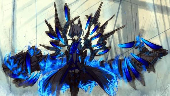Hier hat das wiederum eine andere Waffe aber es ist der selbe Charakter - (Games, Anime, Charakter)
