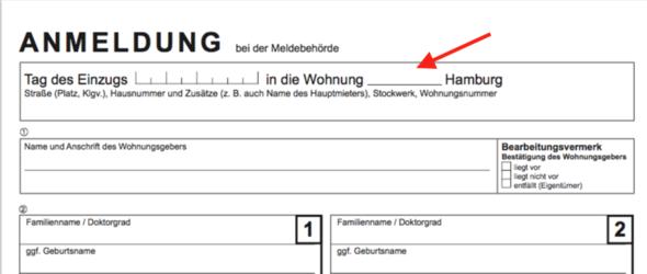 Anmeldung Meldebehörde Hamburg: Was muss ins Formular eingetragen ...