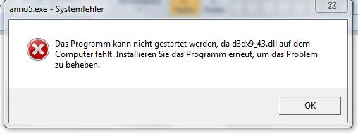 fehlermeldung - (Computer, Games, Anno 2070)