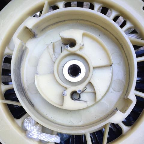 Das ist die Spule von der anreißleine - (Motor, Anreiß)