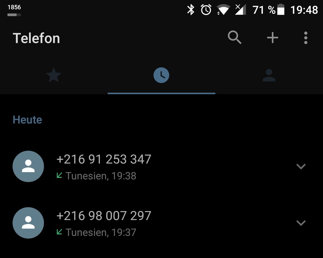 Komischer Anruf Aus Tunesien