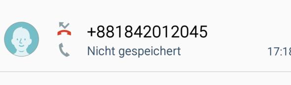 - (Handy, Anruf, unbekannt)