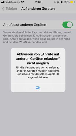 Anrufe von dem iPhone aufs iPad bekommen? (Apple)