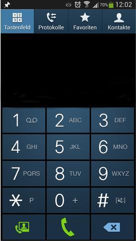 Meine Handytastatur zum anrufen - (Handy, Samsung Galaxy, Buchstaben)