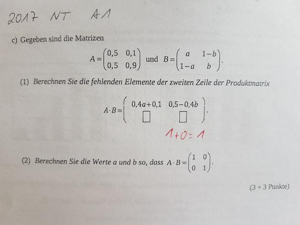 - (Schule, Stochastik, Produktmatrix)