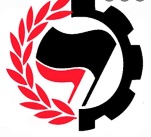 Antifa Lorbeeren Flagge Politik Symbol