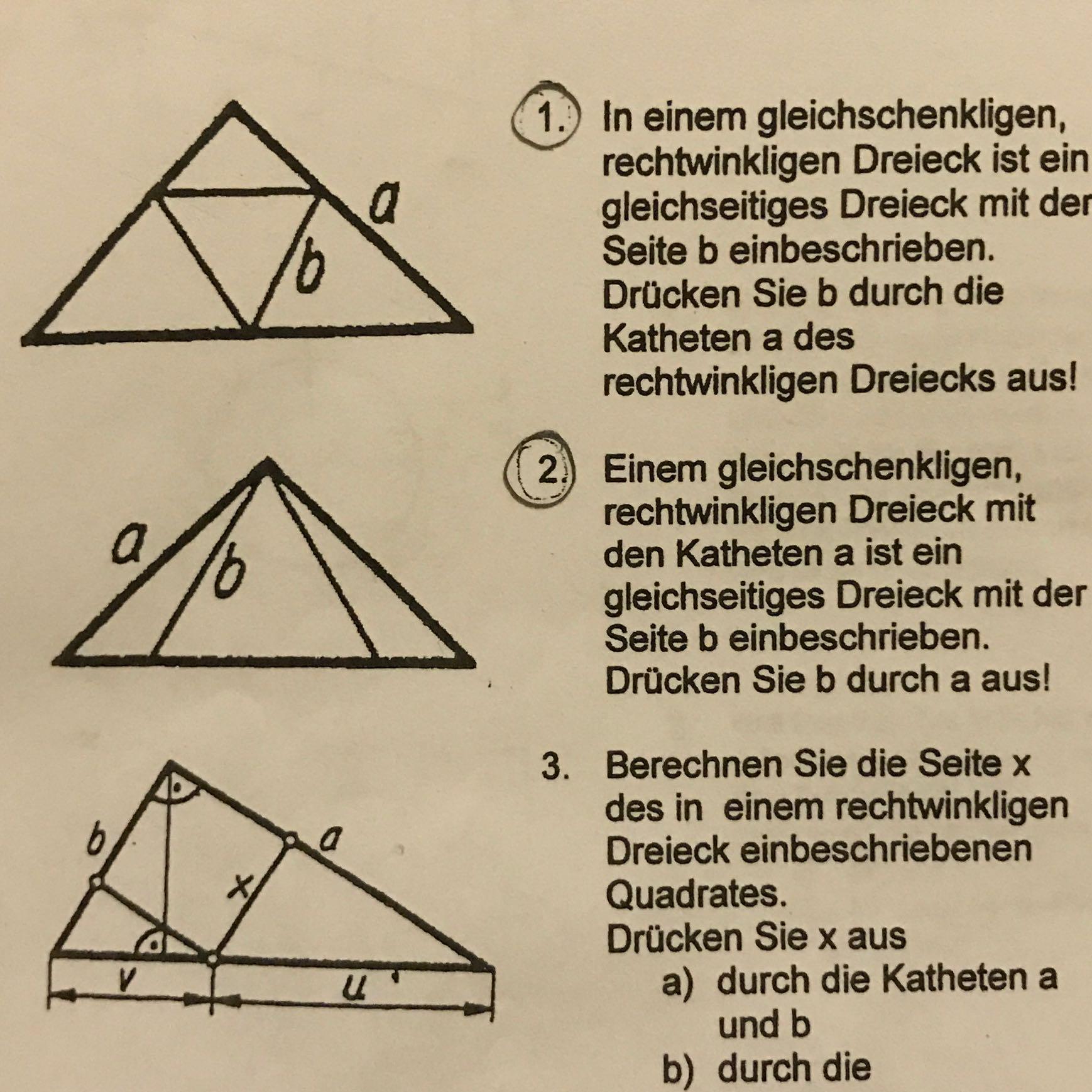 Fein Rechtwinkliges Dreieck Anwendungen Arbeitsblatt Galerie - Super ...