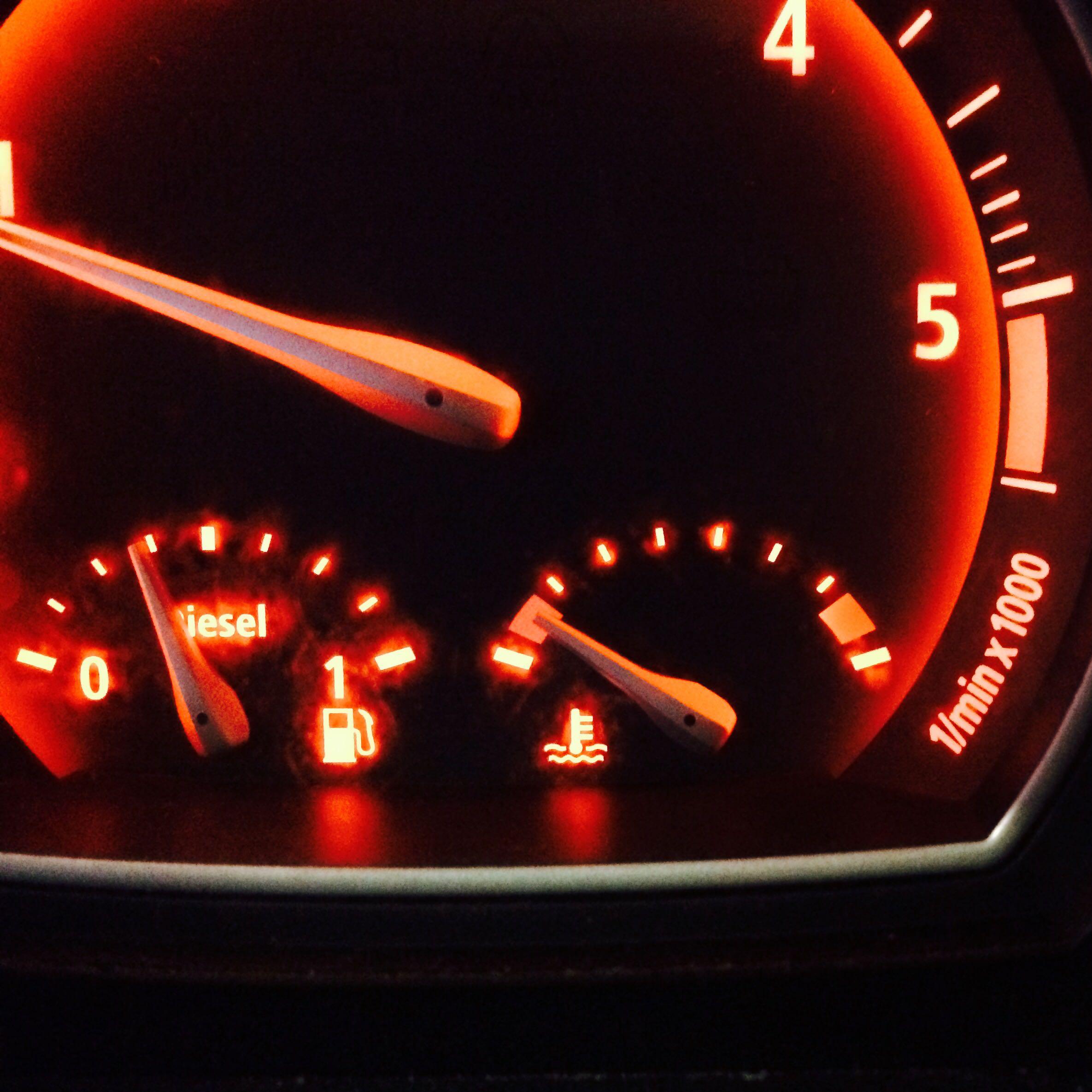 Anzeige Motortemperatur Auto Wasser Motor