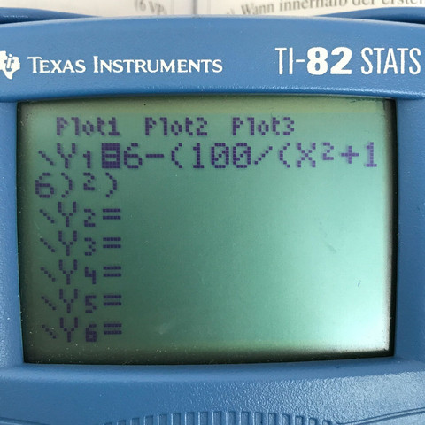 Eingabe der Funktion  - (Schule, Technik, Mathe)