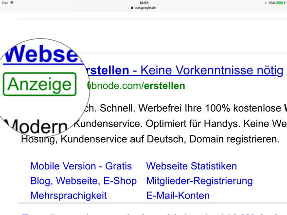- (Internet, Google, Werbung)