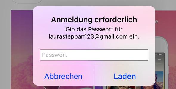 app store anmeldung