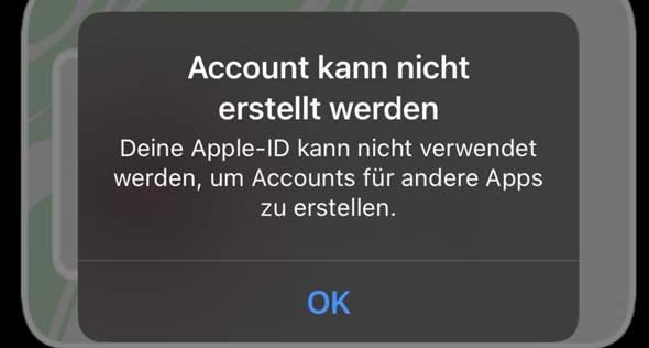 Apple ID kann nicht verwendet werden?