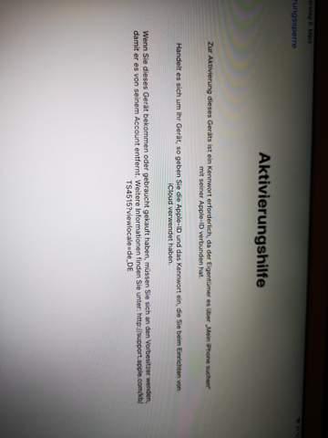 Apple Ipad Air 2 gebraucht gekauft, noch beim alten Nutzer verbunden. Was tun?