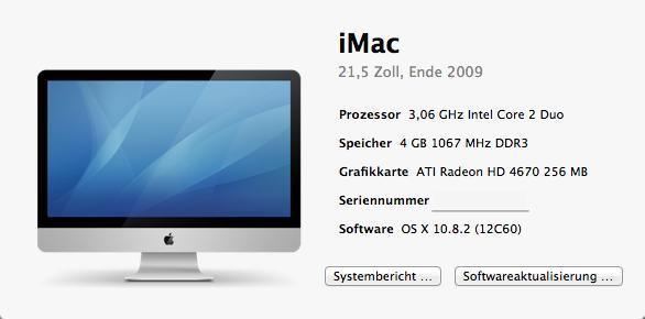 Über diesen Mac - (Apple, Fehler, Mac)