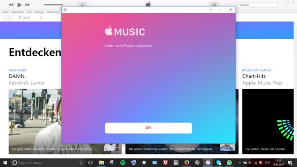 Fehlermeldung am PC - (Musik, iPhone, Apple)