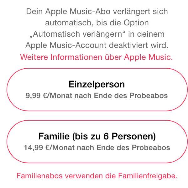 apple music ich kann das probeabo nicht kostenlos benutzen warum musik itunes. Black Bedroom Furniture Sets. Home Design Ideas