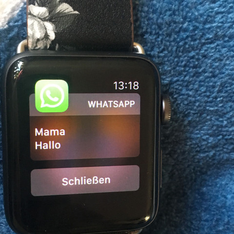 whatsapp lesen apple watch
